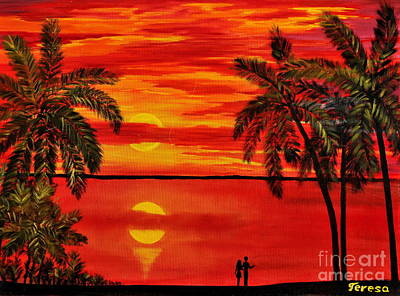 Maui Sunset Poster by Teresa Wegrzyn