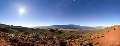 Mauna Loa Moonlight Panorama Poster