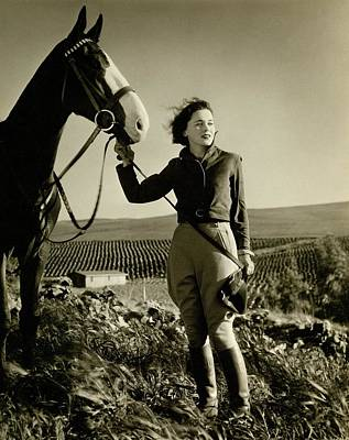 Maureen O'sullivan Standing On A Hill Poster by George Hurrell