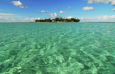 Mauritius, Blue Bay, Turquoise Rippled Poster