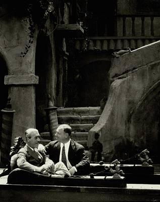 Mauritz Stiller And Emil Jannings On A Gondola Poster