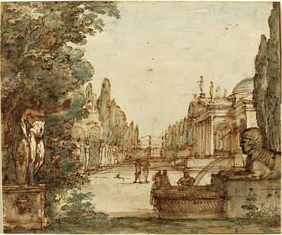 Mauro Antonio Tesi, Italian 1730-1766, Capriccio Poster by Litz Collection