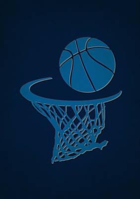 Mavericks Team Hoop2 Poster by Joe Hamilton