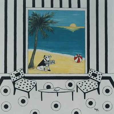 Max And The Miami Herald Poster by Inge Lewis