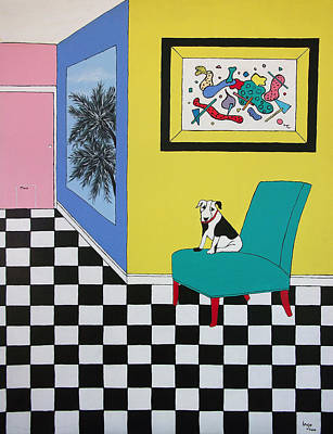 Max Relaxing  Poster by Inge Lewis