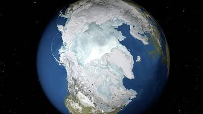 Maximum Arctic Sea Ice Cover Poster