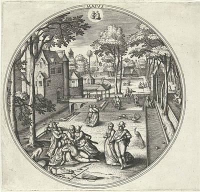 May, Adriaen Collaert, Hans Bol, Hans Van Luyck Poster by Adriaen Collaert And Hans Bol And Hans Van Luyck