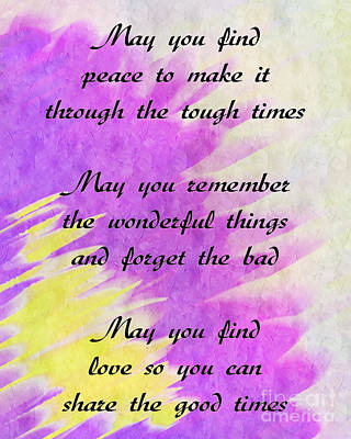 May You Have Love And Comfort A Poem Poster