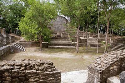 Maya Plaza And Temple Poster