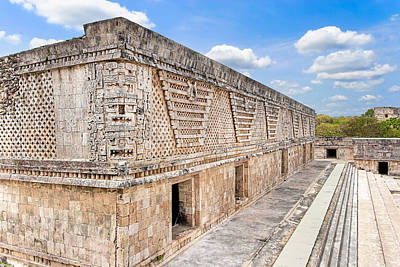Mayan Architecture At Uxmal Poster