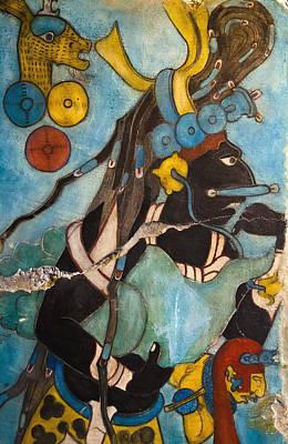 Mayan Fresco I Poster by John  Bartosik