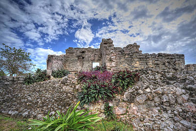 Poster featuring the photograph Mayan Ruin At Tulum by Jaki Miller