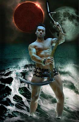 Mayan Storm Poster by John Clum