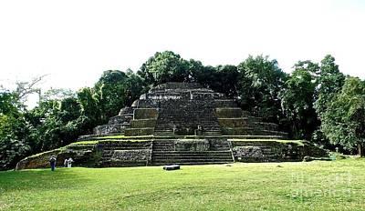 Mayan Temple Belize Lamanai Poster by John Potts