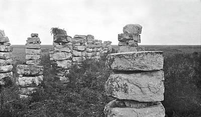 Mayan Temple Columns Poster