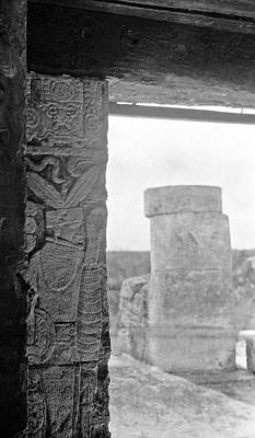 Mayan Temple Stele Poster by American Philosophical Society