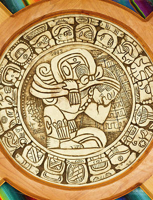 Mayan Woodcarving, Belize Poster by William Sutton