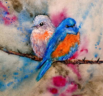 Maybe She's A Bluebird Poster by Beverley Harper Tinsley