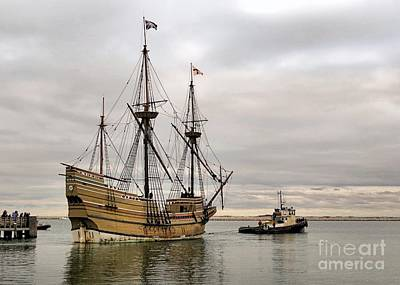 Mayflower II Under Tow 12 12 14 Poster by Janice Drew