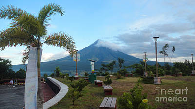Mayon At Lignon Hill Poster by Manuel Cadag