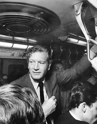 Mayor Lindsay Rides The Subway Poster by Underwood Archives