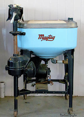 Maytag Washing Machine Poster by Barbara Snyder