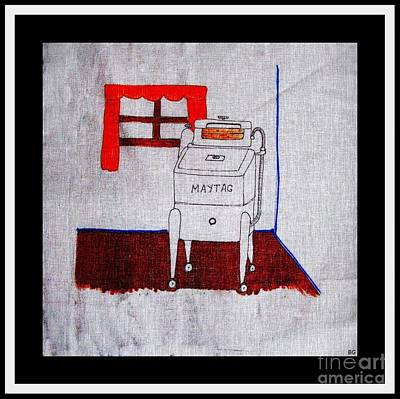 Maytag Wringer Washer Poster by Barbara Griffin