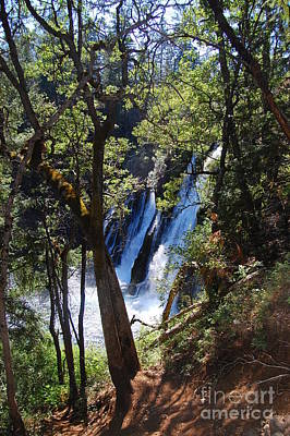 Poster featuring the photograph Mcarthur-burney Falls Side View by Debra Thompson