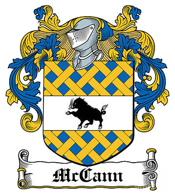 Mccann Coat Of Arms Armagh Ireland Poster by Heraldry