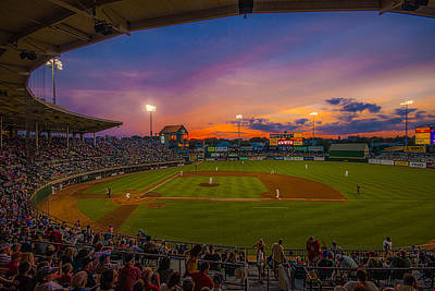 Mccoy Stadium Sunset Poster by Tom Gort