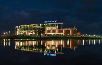 Mclane Stadium At Night Poster