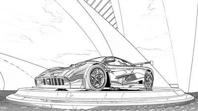 Mclaren F1 Sketch Poster