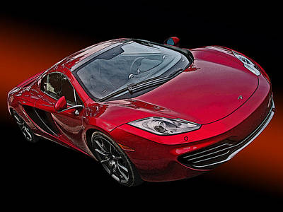 Mclaren Mp4-12c Poster by Samuel Sheats