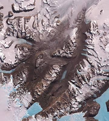 Mcmurdo Dry Valleys Poster by Nasa/gsfc/meti/japan Space Systems/u.s.,japan Aster Science Team