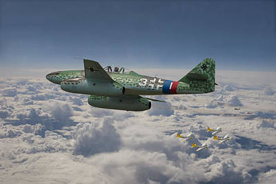 Me 262 - Stormbird Poster by Pat Speirs