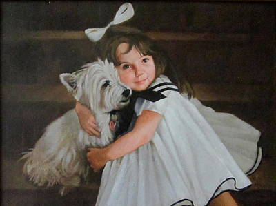 Me And My Scottie Poster by Janet McGrath