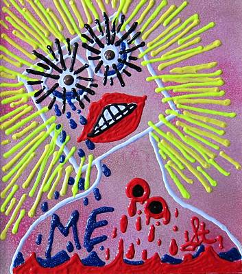 Poster featuring the mixed media Me In The Past by Lisa Piper