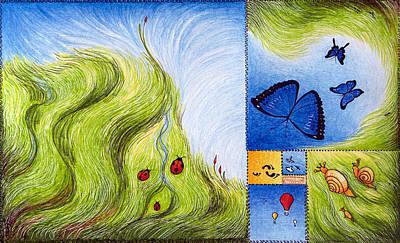 Meadow Of Fibonacci Poster by Ida  Novotna
