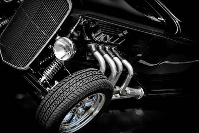 Vintage Cars Poster featuring the photograph Mean Machine Classic by Aaron Berg