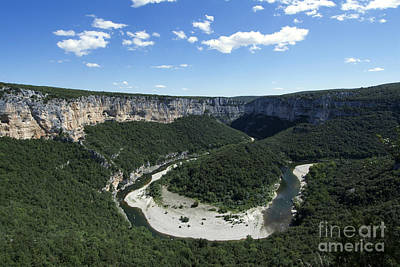 Meander. Gorges De L'ardeche. France Poster by Bernard Jaubert