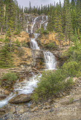 Poster featuring the photograph Meandering Waterfall by Wanda Krack