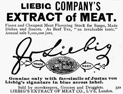 Meat Extract Ad, 1889 Poster