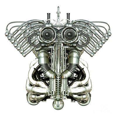 Mechanical Figure Poster by Diuno Ashlee