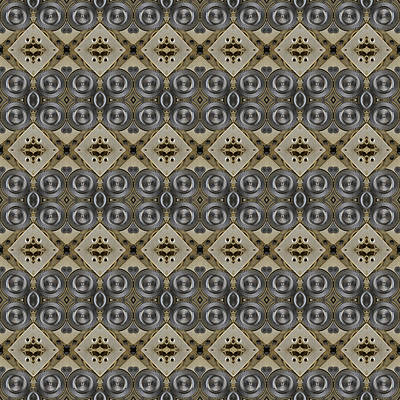 Mechanical Gears Pattern Background Poster by Nenad Cerovic