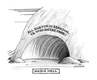 Media Hell Poster by Mick Stevens