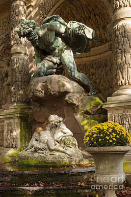 Medici Fountain - Paris Poster by Brian Jannsen
