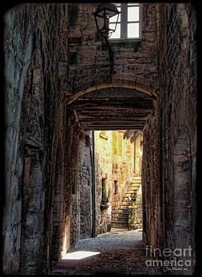 Medieval Alley Poster by Joan  Minchak