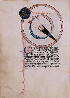 Medieval Depiction Of A Lunar Eclipse Poster