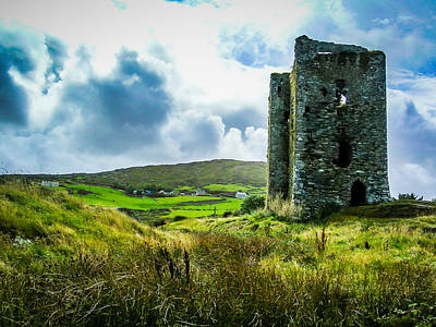 Medieval Dunmanus Castle On Ireland's Mizen Peninsula Poster