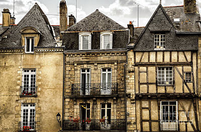 Medieval Houses In Vannes Poster